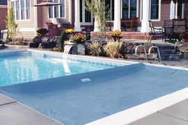 Fabric for swimming pool cover